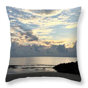 Lone Fishing Throw Pillow
