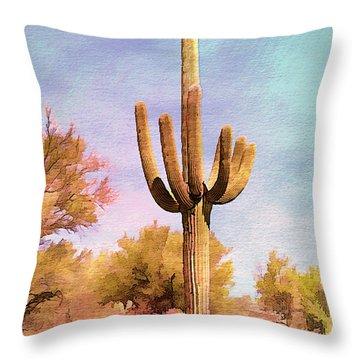Lone Saugaro Throw Pillow