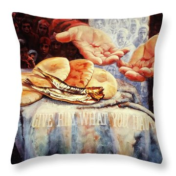 Loaves And Fishes 2 Throw Pillow