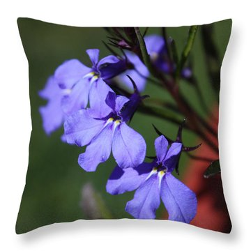 Lobelia Throw Pillow