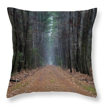 Throw Pillow featuring the photograph Loblolly Lane by Robert Geary