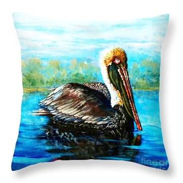 L'observateur Throw Pillow