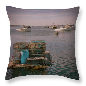 Lobstar Pot Float Throw Pillow