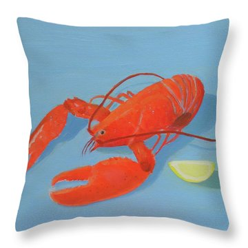 Lobster And Lemon Throw Pillow
