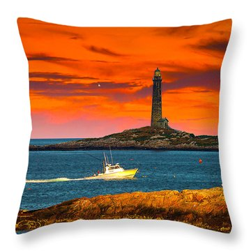 Lobster Boat Cape Cod Throw Pillow by Randall Branham