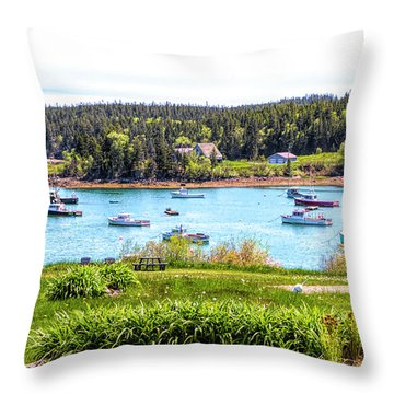 Throw Pillow featuring the photograph Lobster Boats  by Betty Pauwels