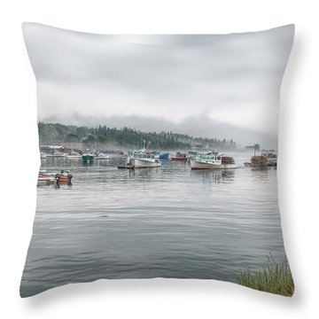Throw Pillow featuring the photograph Lobster Fleet by John M Bailey