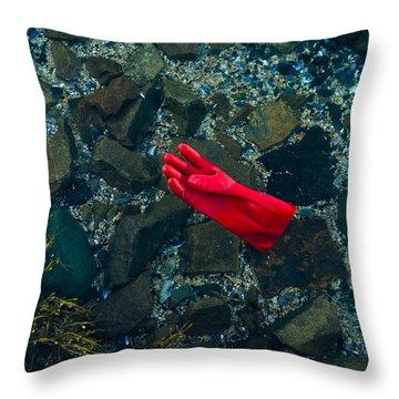 Lobster Glove Throw Pillow
