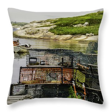 Lobster Hunt Throw Pillow by Will Burlingham
