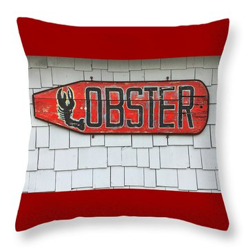 Lobster Paddle Throw Pillow