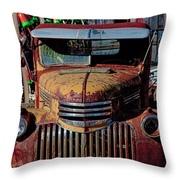 Lobster Pots And Chevys Throw Pillow
