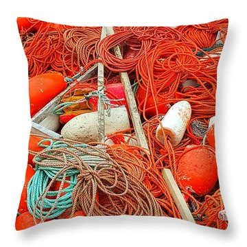 Lobster Season Throw Pillow