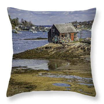 Lobster Shanty Throw Pillow