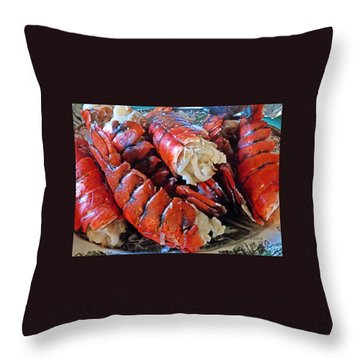 Lobster Tails Throw Pillow