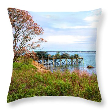 Throw Pillow featuring the photograph Lobster Traps by Betty Pauwels