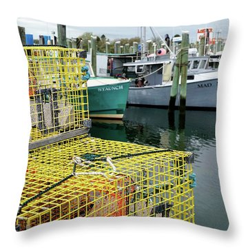 Lobster Traps In Galilee Throw Pillow