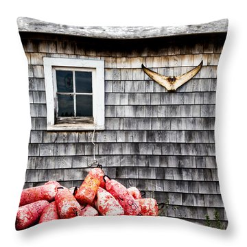 Lobstering Shack Throw Pillow