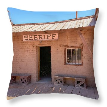Local Sheriff Tucson Throw Pillow