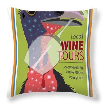 Local Wine Tours Throw Pillow