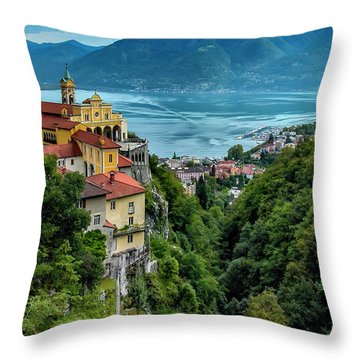 Throw Pillow featuring the photograph Locarno Overview by Alan Toepfer