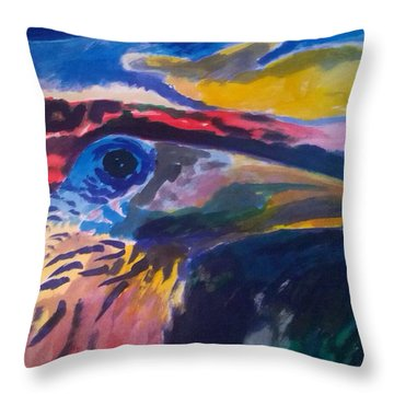 L'occhio Del Tucano Throw Pillow