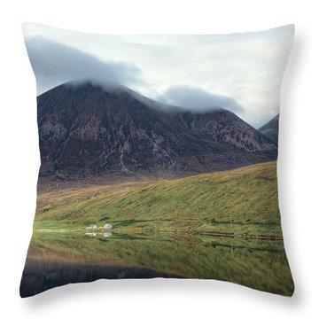 Loch Ainort - Isle Of Skye Throw Pillow