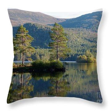 Loch An Eilein - Cairngorms National Park Throw Pillow
