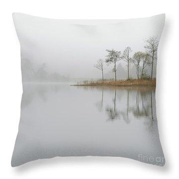 Loch Ard Misty Sunrise Throw Pillow