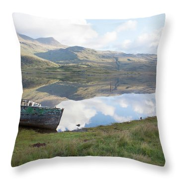 Loch Beg Reflects Throw Pillow