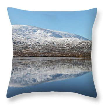 Throw Pillow featuring the photograph Loch Droma Panorama by Grant Glendinning