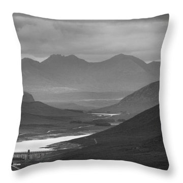 Loch Glascarnoch And An Teallach Throw Pillow