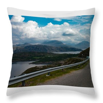 Loch Kishorn, Plockton, Scotland Throw Pillow