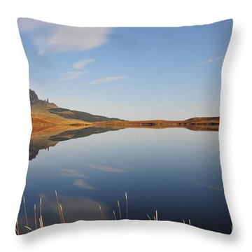 Loch Leatham Throw Pillow