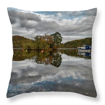Loch Lomond At Aldochlay Throw Pillow