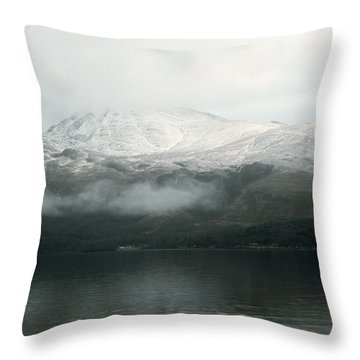 Loch Lomond, Winter Throw Pillow