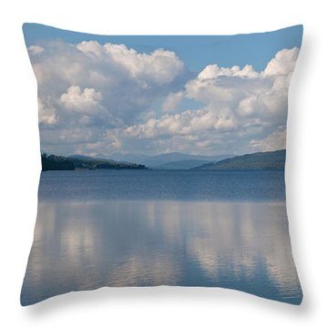 Loch Rannoch Clouds Throw Pillow by Chris Thaxter