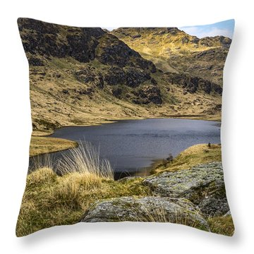 Loch Restil From Rest And Be Thankful Throw Pillow