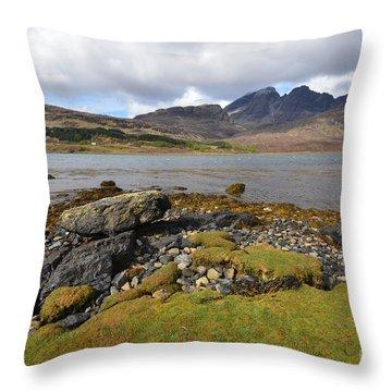 Loch Slapin Throw Pillow