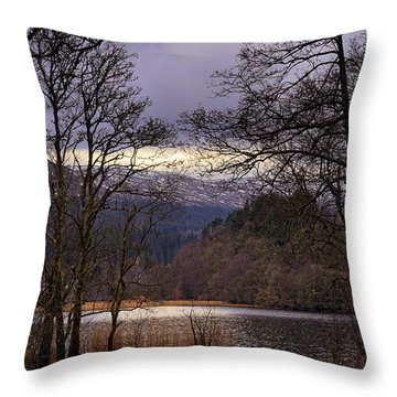 Throw Pillow featuring the photograph Loch Venachar by Jeremy Lavender Photography
