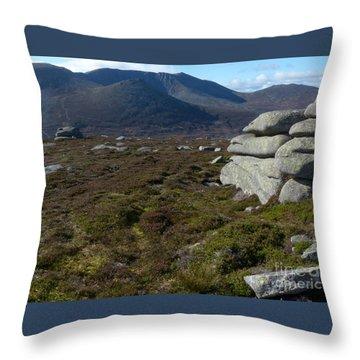 Lochnagar From Conachcraig Throw Pillow