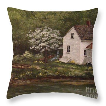 Lock 8 Throw Pillow by Leea Baltes