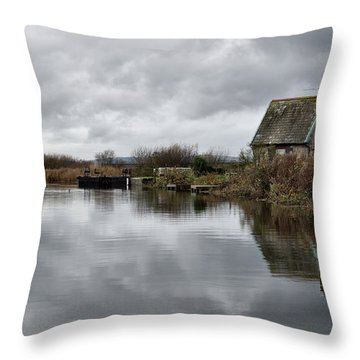 Lock Keepers Cottage At Topsham Throw Pillow