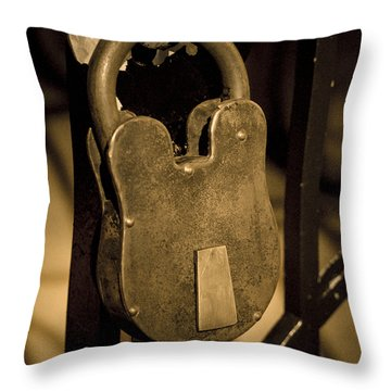 Throw Pillow featuring the photograph Locked Away by Christi Kraft