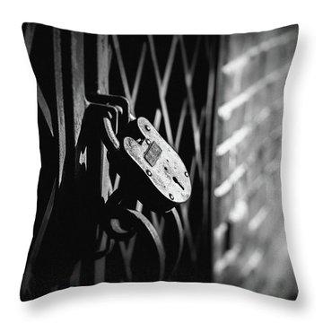 Locked Away Throw Pillow