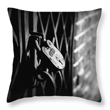 Locked Away Throw Pillow