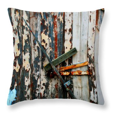 Locked Door Throw Pillow by Perry Webster