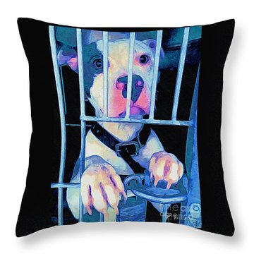 Locked Up Throw Pillow