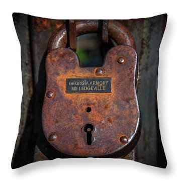 Locked Up Tight Throw Pillow