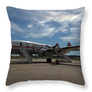 Lockheed Constellation Super G Throw Pillow
