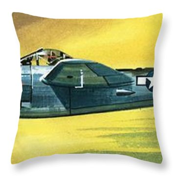Lockheed P-38j Lightning Throw Pillow